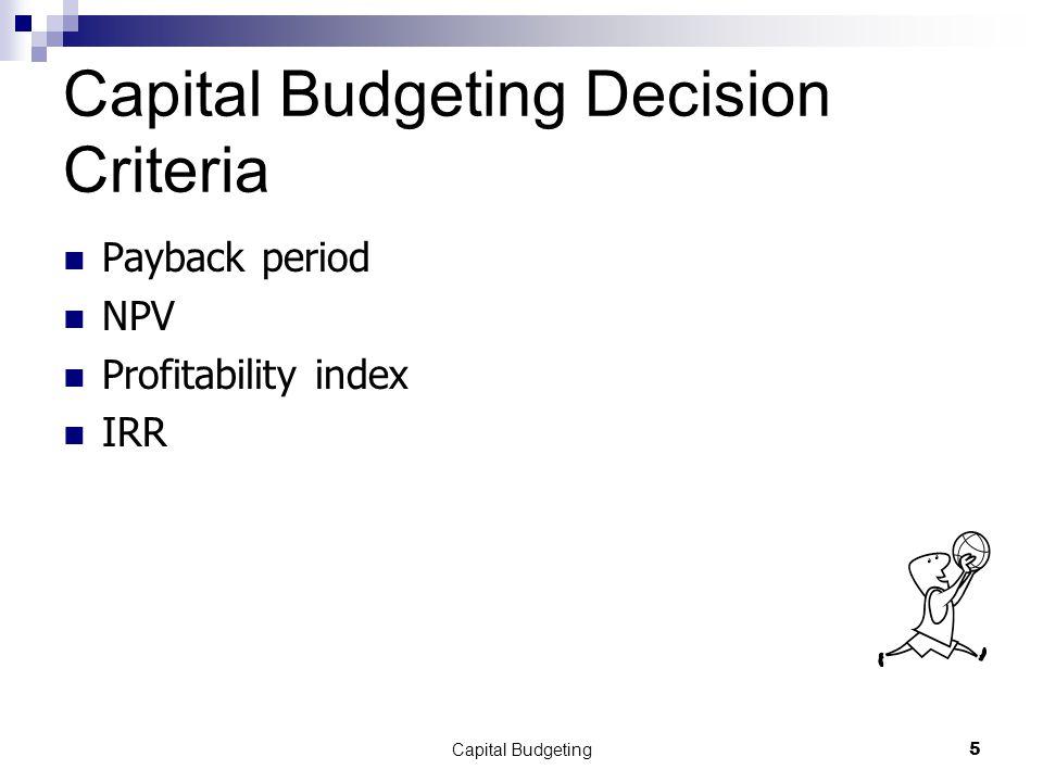 Capital Budgeting16 Profitability Index