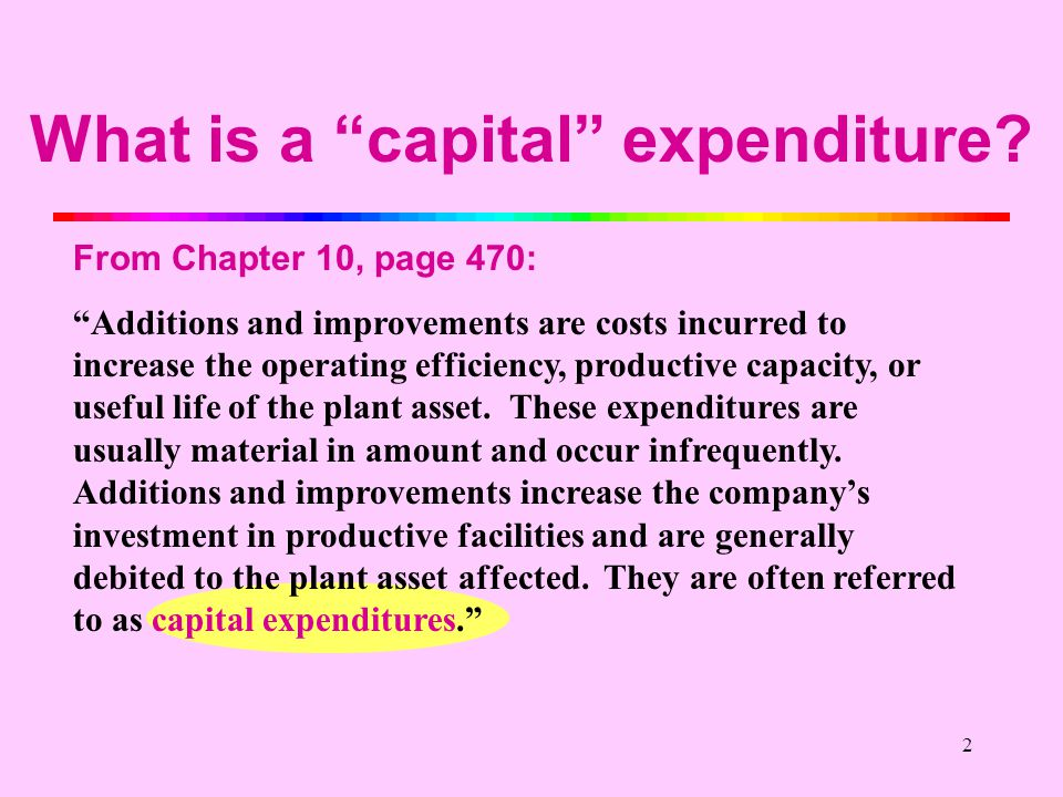 Capital Budgeting Evaluating Capital Expenditures Proposed
