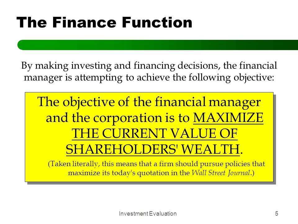 Investment Evaluation16 Forecasting Cash Flows €There is an important distinction between the accounting definition of working capital and the economic/finance definition relevant to cash flows forecast.