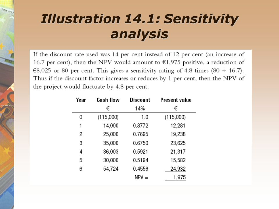 Scenario analysis and the use of probabilities The use of probabilities in investment appraisal allows a range of outcomes or alternatives to be considered, with probabilities assigned to show how likely it is that these outcomes could actually occur.