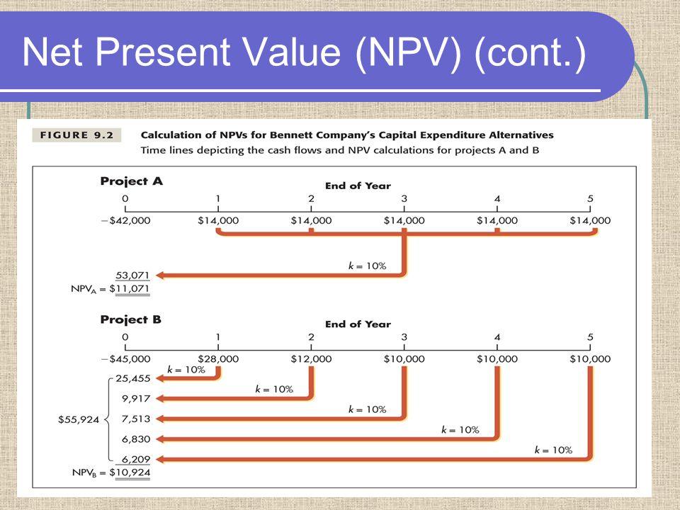13 Net Present Value (NPV) (cont.)