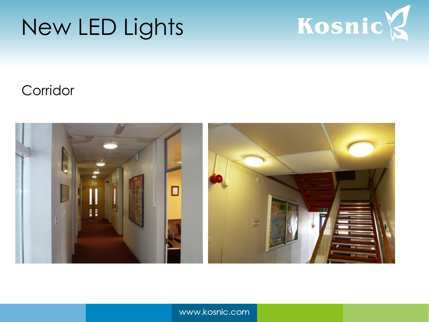 www.kosnic.com New LED Lights Corridor
