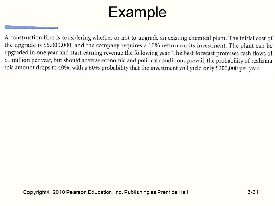 Example 3-21Copyright © 2010 Pearson Education, Inc. Publishing as Prentice Hall