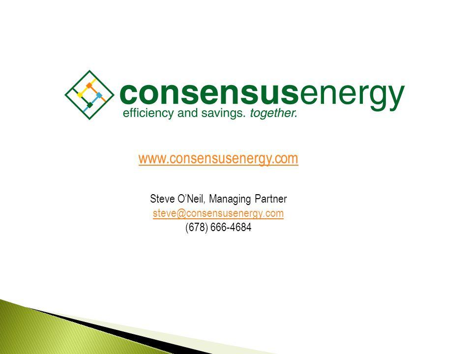 AECS, LLC www.consensusenergy.com Steve O'Neil, Managing Partner steve@consensusenergy.com (678) 666-4684