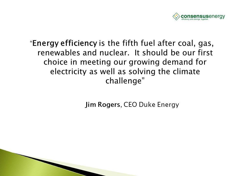 """AECS, LLC """" Energy efficiency is the fifth fuel after coal, gas, renewables and nuclear. It should be our first choice in meeting our growing demand f"""