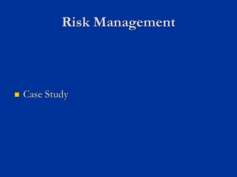 Risk Management Case Study Case Study