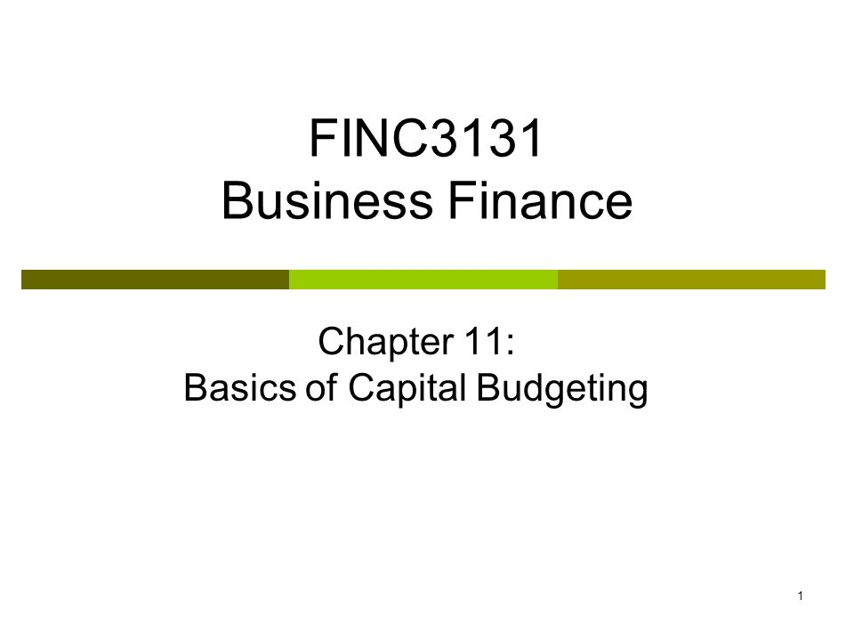2 Learning objectives 1.Explain the purpose and importance of capital budgeting.