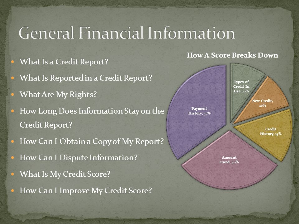 What Is a Credit Report. What Is Reported in a Credit Report.