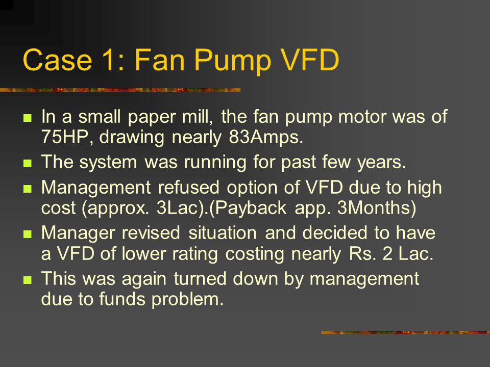 Without a VFD: The manager was enthusiastic, and decided to us pulleys for rpm reduction.