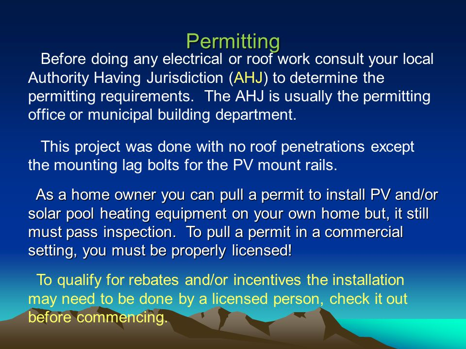 Scope This presentation describes a renewable energy approach to maintaining a swimming pool without buying electricity.
