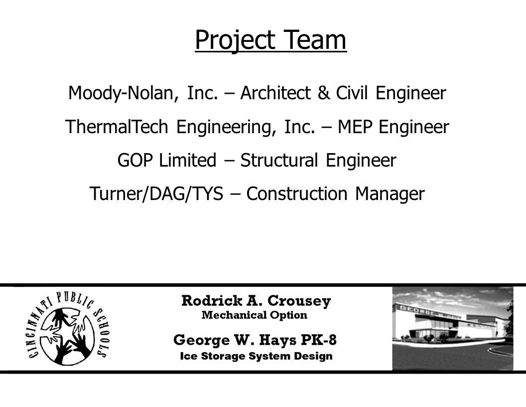 Project Team Moody-Nolan, Inc. – Architect & Civil Engineer ThermalTech Engineering, Inc.