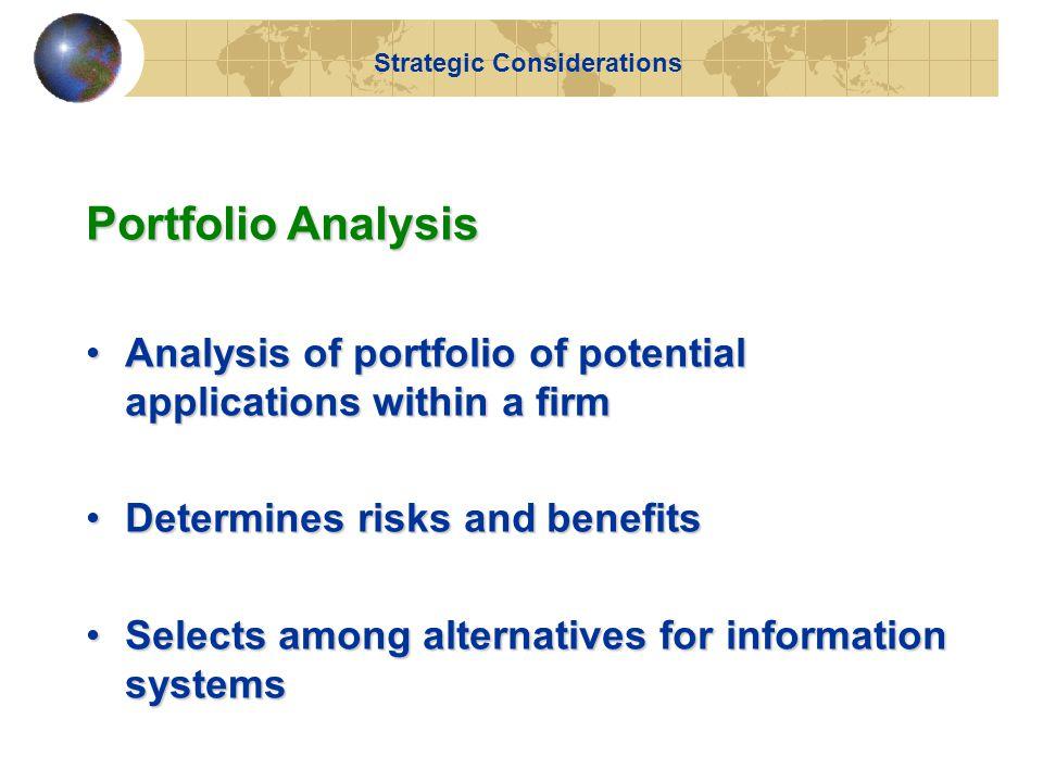 A System Portfolio Figure 14-3 Strategic Considerations