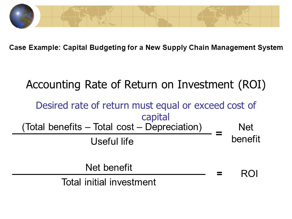 Understanding the Business Value of Information Systems Net Present Value Compare investment with future savings and earnings Case Example: Capital Budgeting for a New Supply Chain Management System Present value of expected cash flows -Initial investment cost =Net present value
