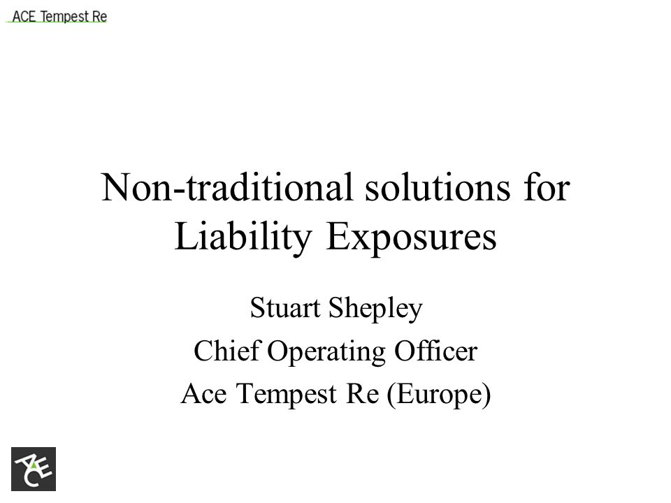 LPT/ADC Basic idea is to transfer outstanding claims reserves to reinsurer Reinsurer agrees to pay claims from a retention level (lower than existing reserves) up to a pre-set limit (at or a little above existing reserves) Reinsurer assesses likely pay-out of claims and charges premium equal to discounted value of expected payment Adverse development cover protects against deterioration of claim levels beyond current levels Reinsurer takes timing and investment risk and may take reserving risk Often crucial element of M&As or of putting lines of business into run-off Particularly suitable for liability portfolios due to long settlement periods and scope for volatile reserve development
