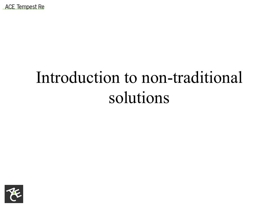 Introduction to non-traditional solutions