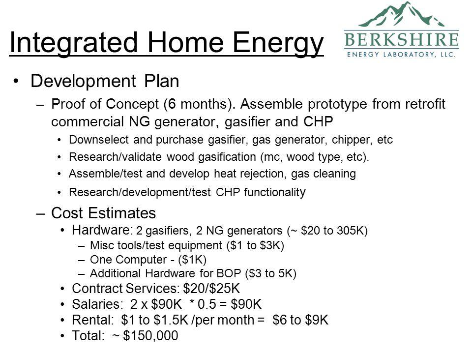 Development Plan –Proof of Concept (6 months).