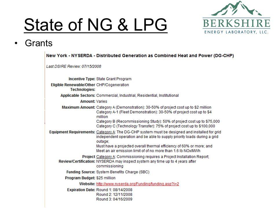 State of NG & LPG Grants