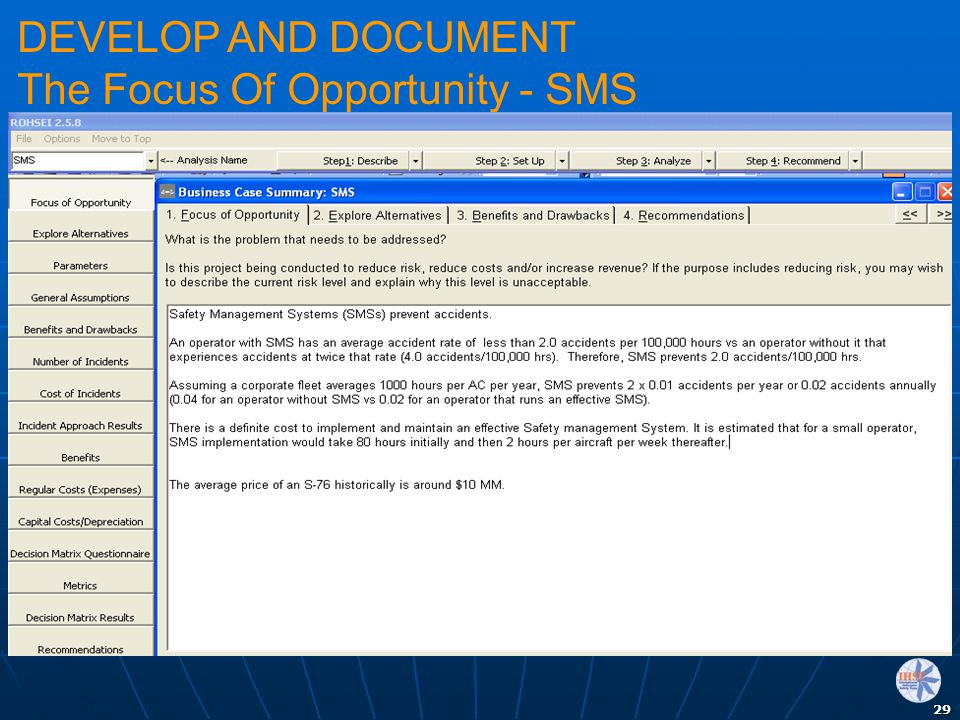 29 DEVELOP AND DOCUMENT The Focus Of Opportunity - SMS