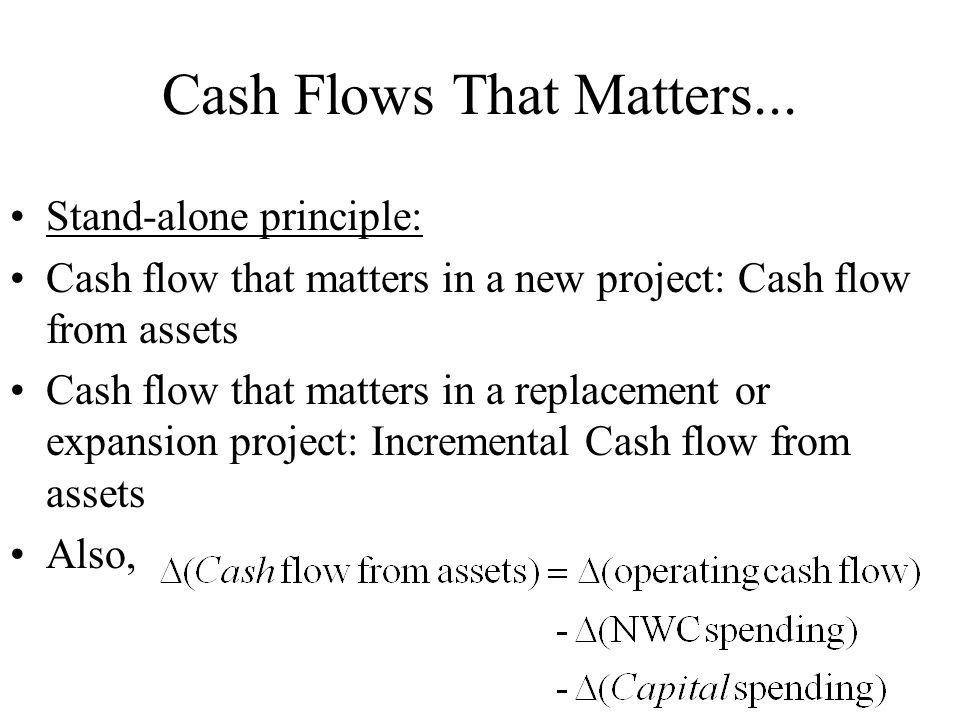 Cash Flows That Matters...