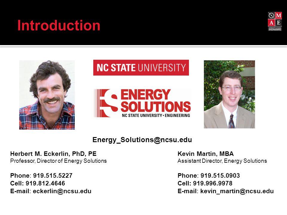 Energy_Solutions@ncsu.edu Herbert M.