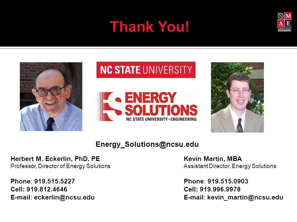 Energy_Solutions@ncsu.edu Herbert M.