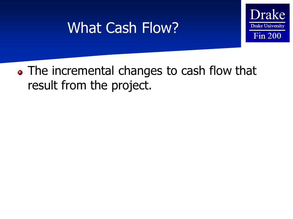 Drake Drake University Fin 200 Calculating Payback Period  Calculate the cumulative cash flow (total cash flow received)  Calculate the Remaining Cost (Total Cost - Cumulative Cash Flow)  Repeat 1 and 2 until remaining cost is less than zero  In last positive year divide remaining cash flow by yearly cash flow in next year  Calculate total payback