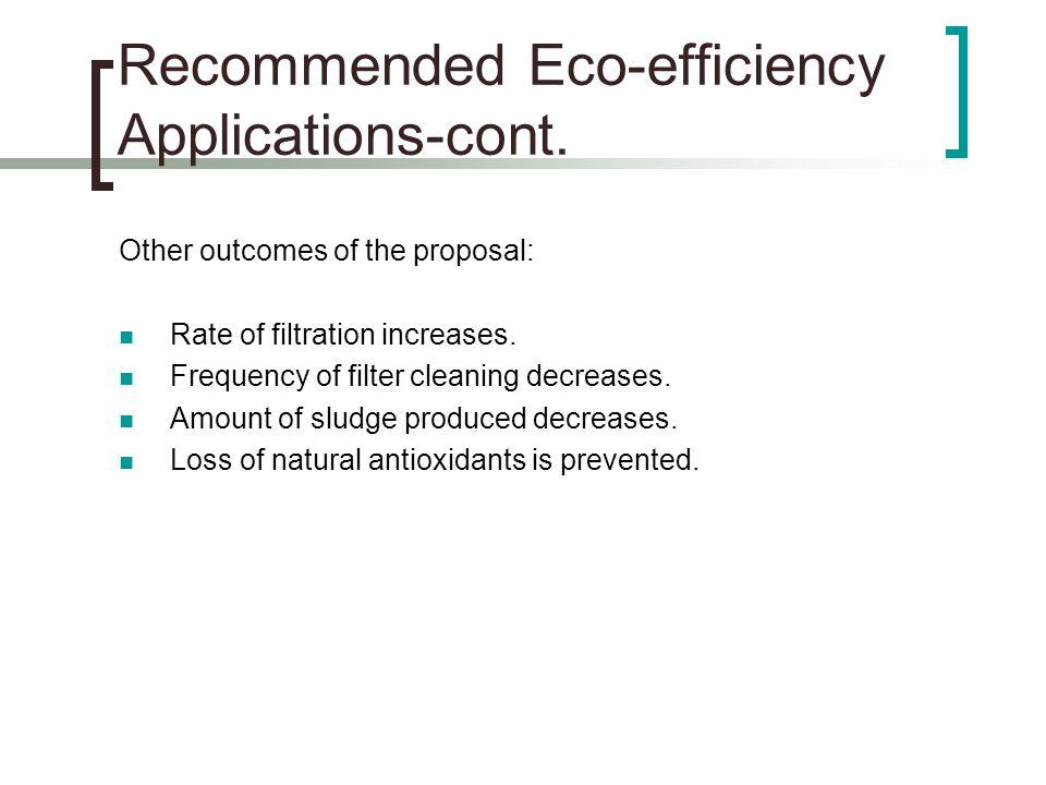 Other outcomes of the proposal: Rate of filtration increases.