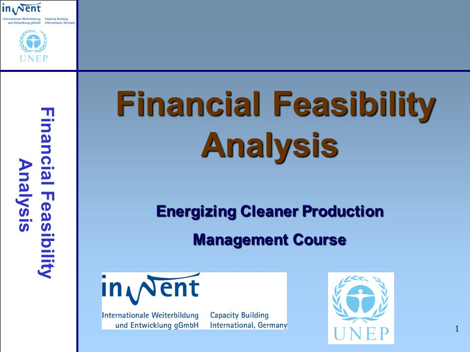 Financial Feasibility Analysis 12 Cash Flow Working Capital and Salvage Value Working capital: total value of goods and money needed to maintain project operations –Raw materials inventory –Product inventory –Accounts payable/receivable –Cash-on-hand Salvage Value: resale value of equipment or other materials at the end of the project