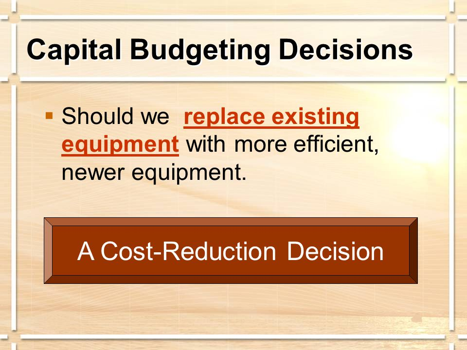 Simplified Approaches to Capital Budgeting AKA: Accounting Rate of Return
