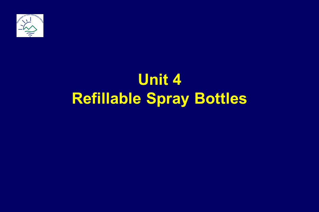 Unit 4 Refillable Spray Bottles