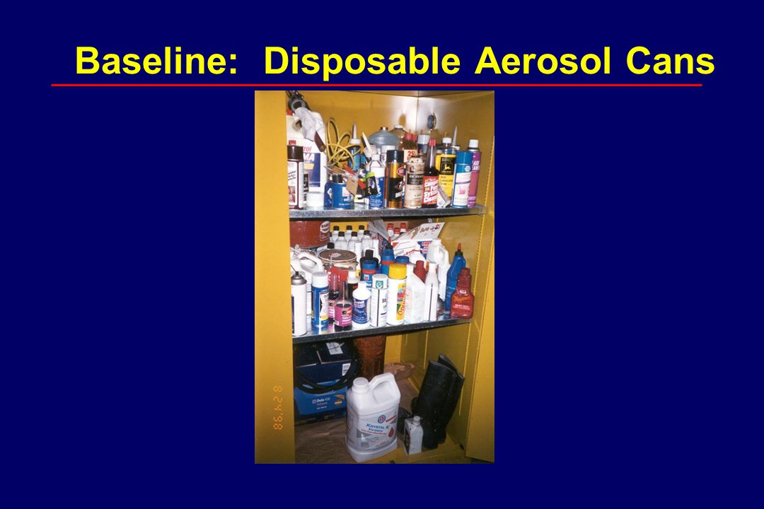 Baseline: Disposable Aerosol Cans