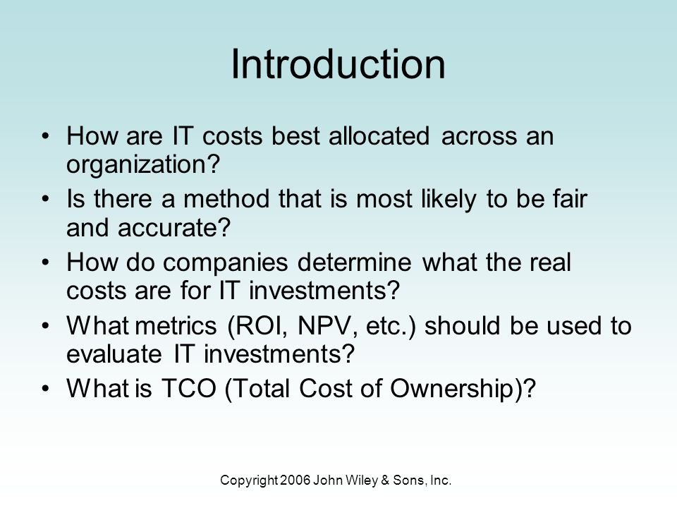 Copyright 2006 John Wiley & Sons, Inc.Real World Examples The CIO of Avon Products Inc.