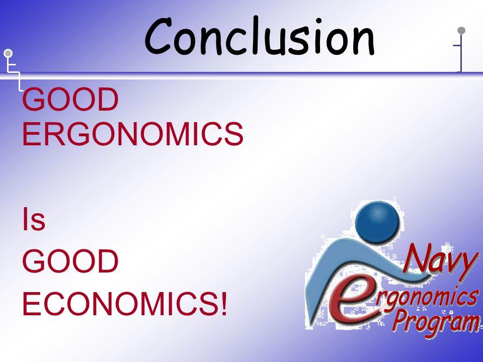 GOOD ERGONOMICS Is GOOD ECONOMICS! Conclusion