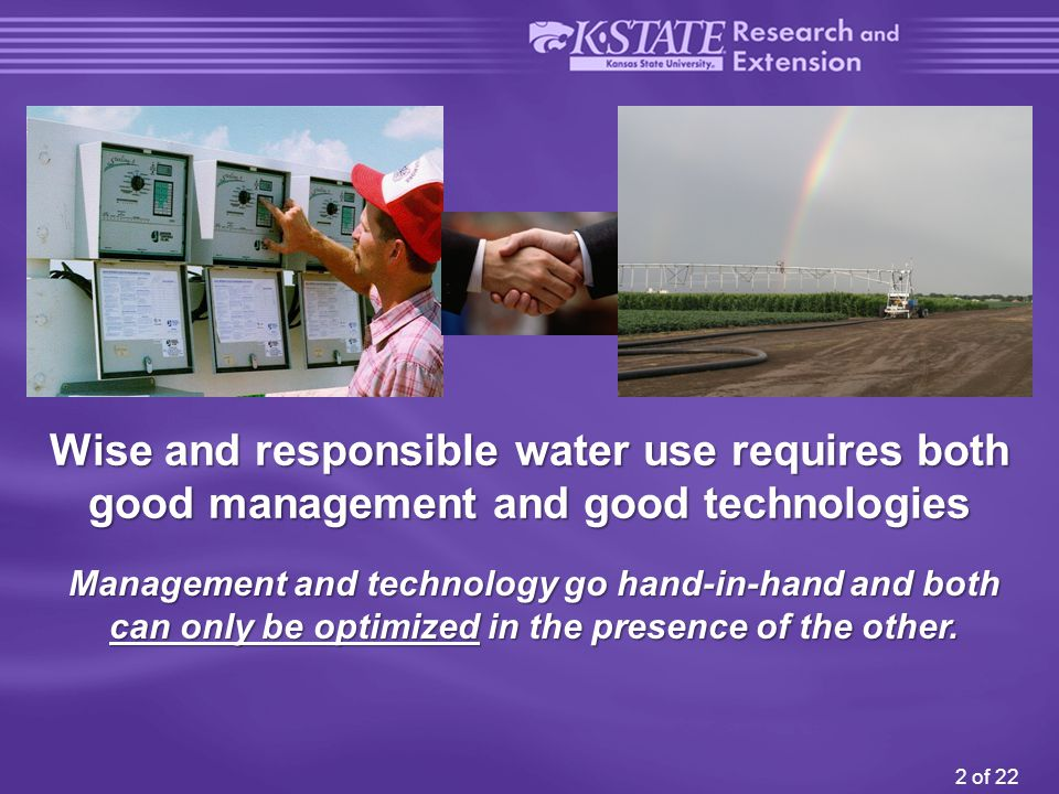 13 of 22 Development of Irrigation Management Decision Tools and Providing the Training Required to Use the Programs