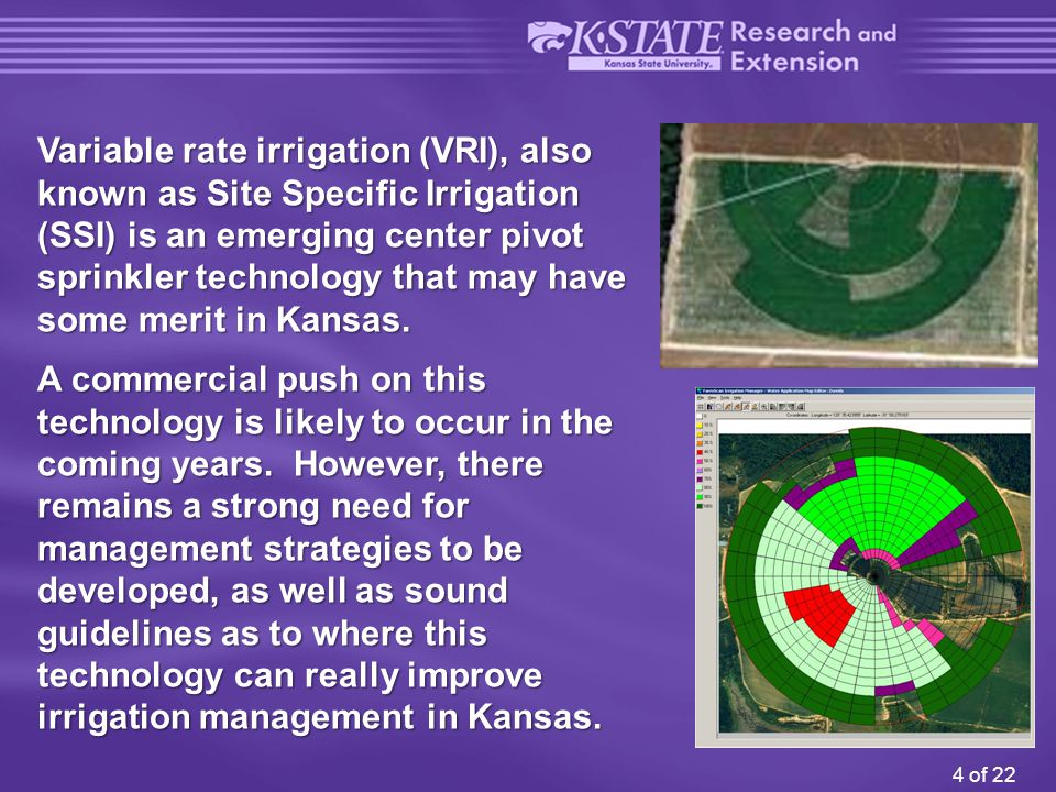 15 of 22 KanSched 2 provides a visual record throughout the crop season for irrigators to track soil water content, irrigation, and rainfall amounts.