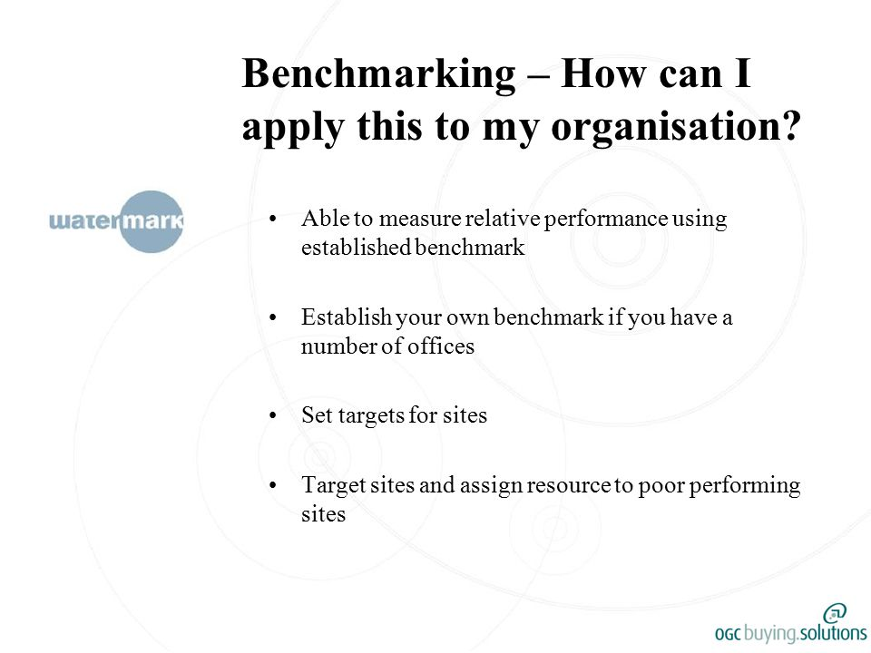 Benchmarking – How can I apply this to my organisation.
