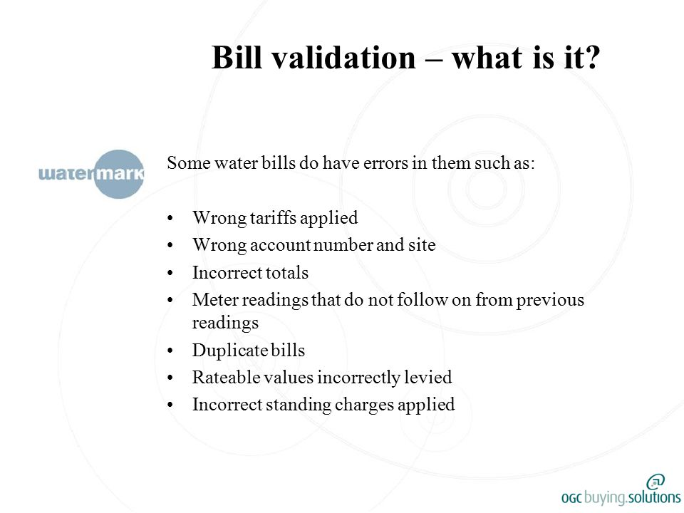 Bill validation – what is it.