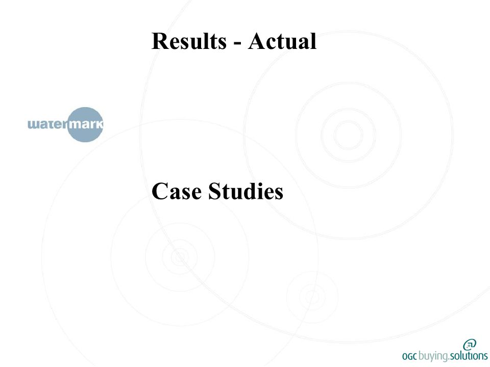 Results - Actual Case Studies