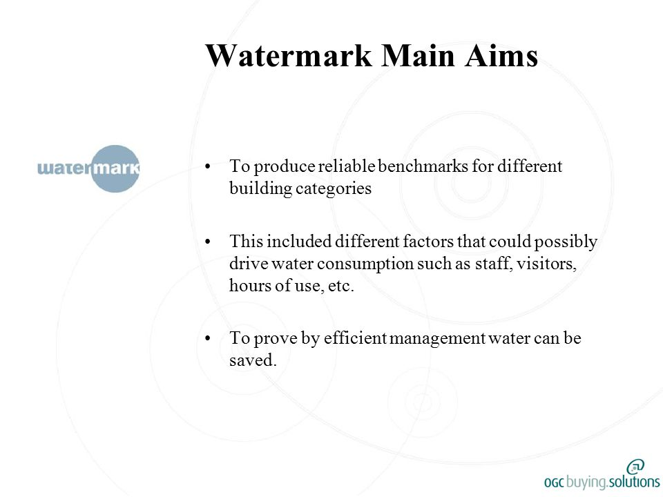 The Future Continue to log water consumption data that is submitted manually and via the website.