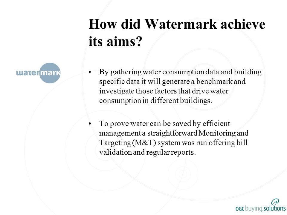 How did Watermark achieve its aims.