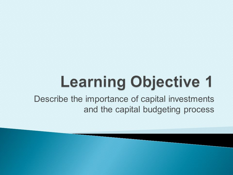  Making capital investment decisions  Examples include: ◦ Purchasing new equipment ◦ Building new facilities ◦ Automating production ◦ Developing Web sites  Affects operations for many years  Requires large sums of money 3Copyright (c) 2009 Prentice Hall.