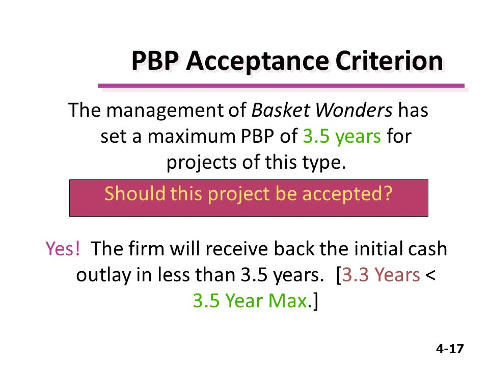 4-17 PBP Acceptance Criterion Yes.