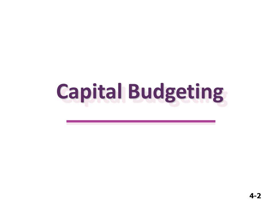 4-2 Capital Budgeting