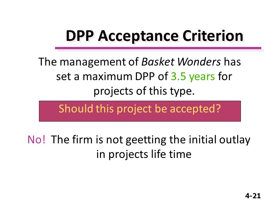 4-21 DPP Acceptance Criterion No.