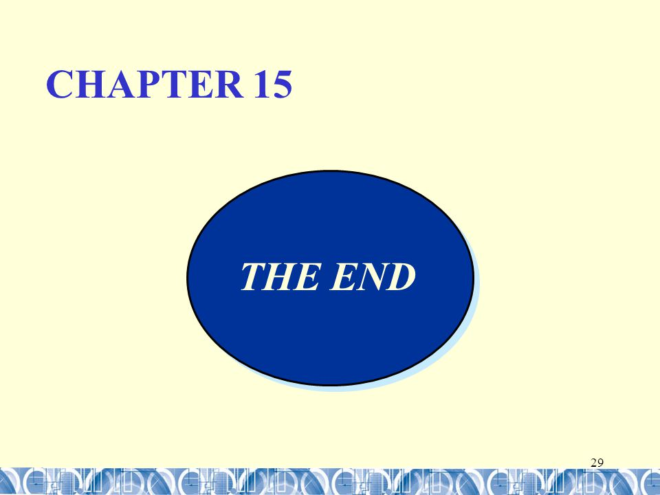 29 THE END CHAPTER 15