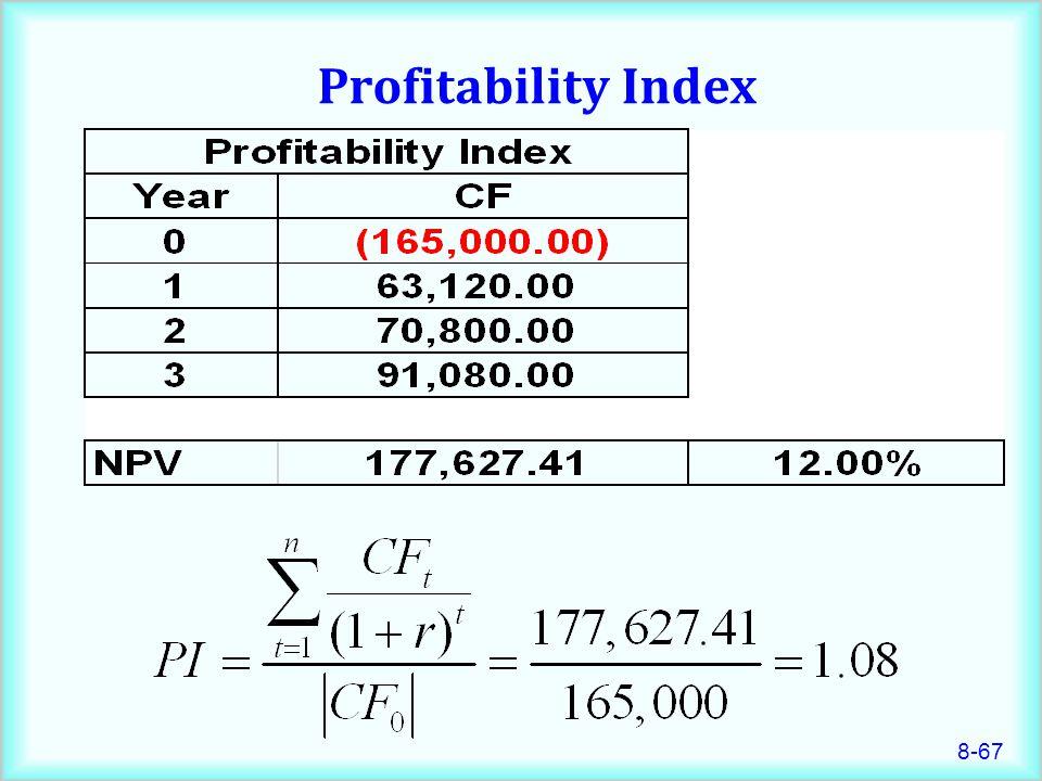 8-67 Profitability Index