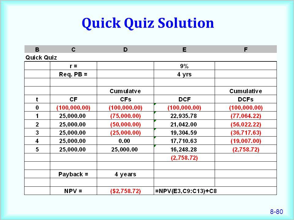 8-80 Quick Quiz Solution