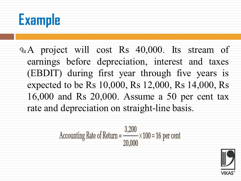 Calculation of Accounting Rate of Return