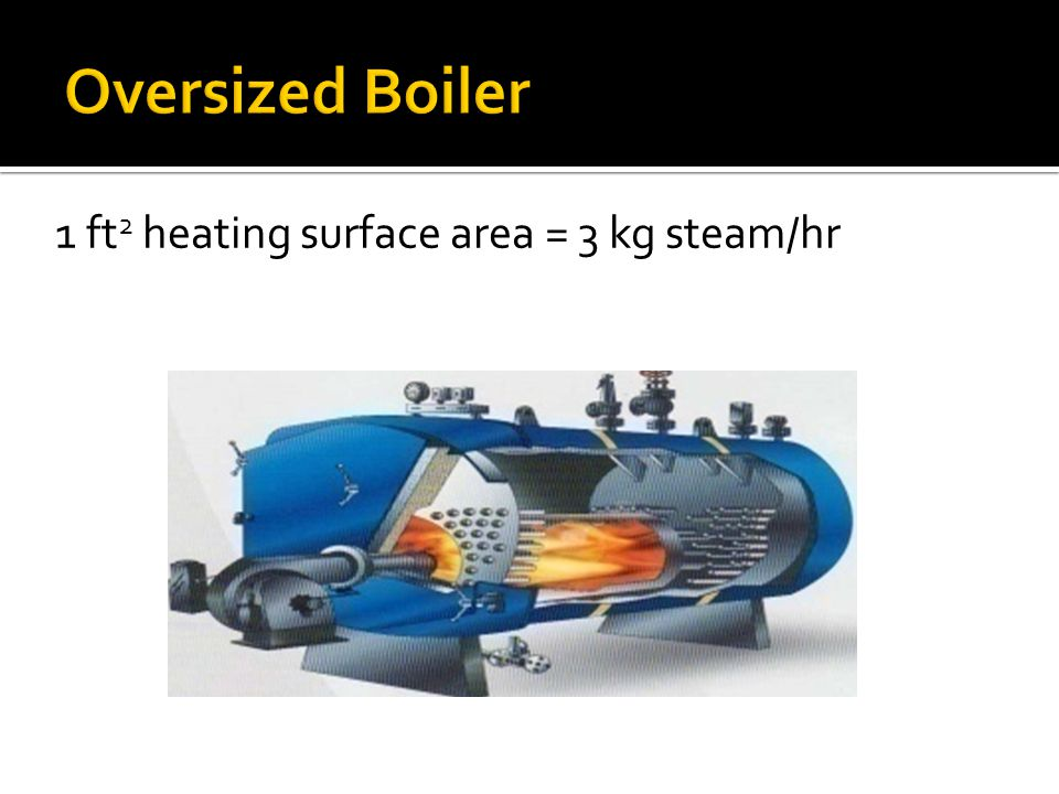 1 ft 2 heating surface area = 3 kg steam/hr
