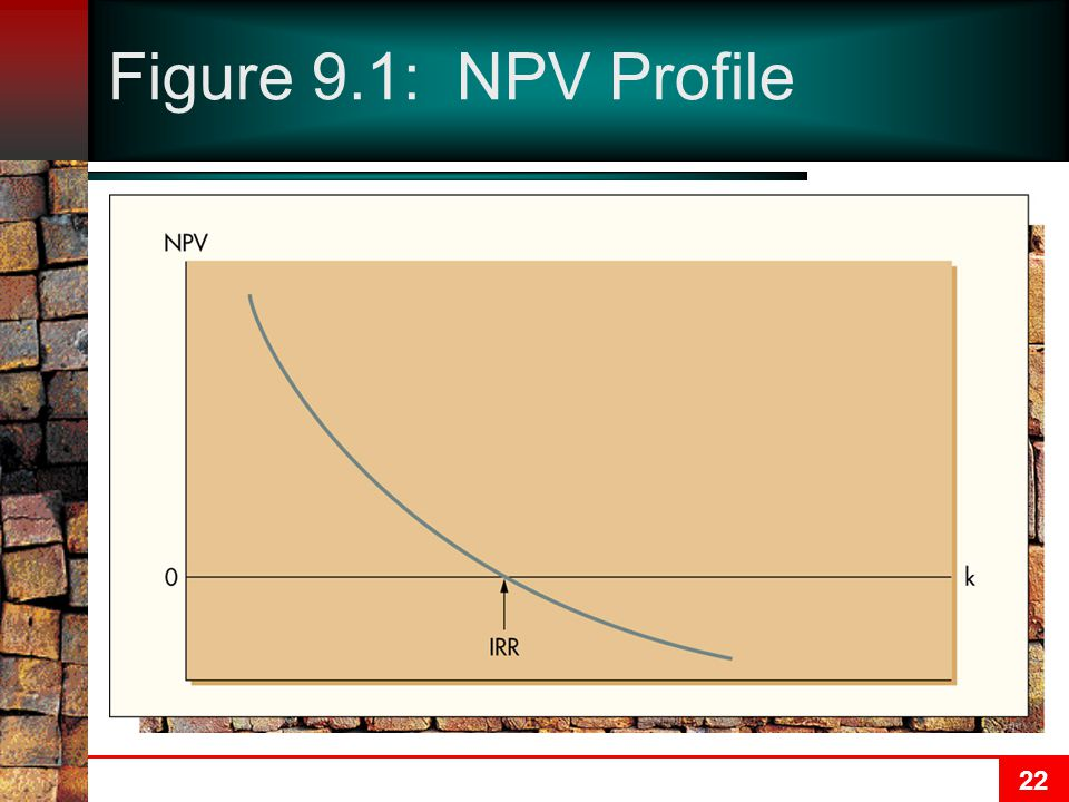 22 Figure 9.1: NPV Profile